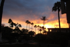 Awesome sunset is viewed from the lanai