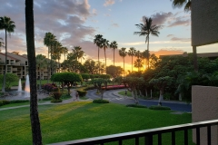 Our awesome sunset views enjoyed from our lanai