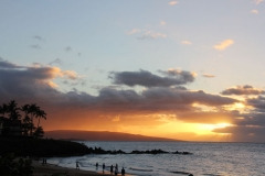 Watching a sunset at the Wailea Luau