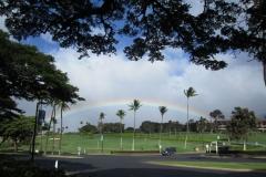 A Full Rainbow seen at Lahaina golf course