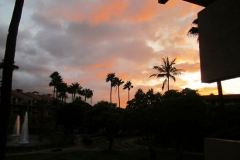 Stunning Sunset Viewed From Our unit 1-204 Condo and Lanai